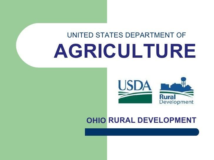 RURAL DEVELOPMENT OHIO UNITED STATES DEPARTMENT OF AGRICULTURE