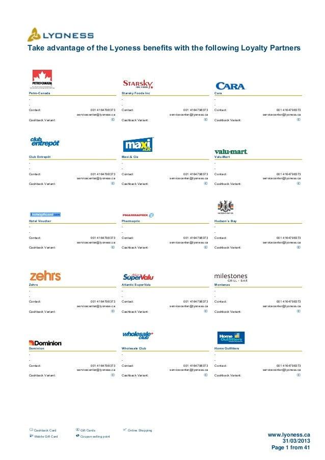 Loyalty Merchants As Of 31.03.2013
