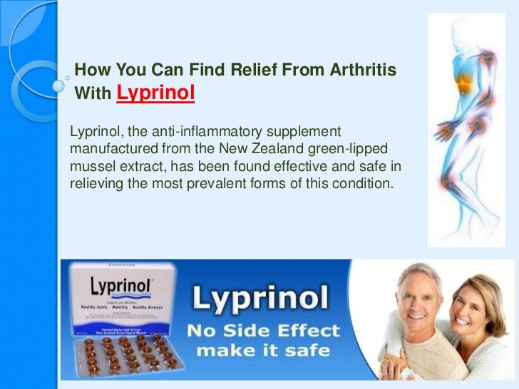 How You Can Find Relief From Arthritis With Lyprinol<br />Lyprinol, the anti-inflammatory supplement manufactured from the...