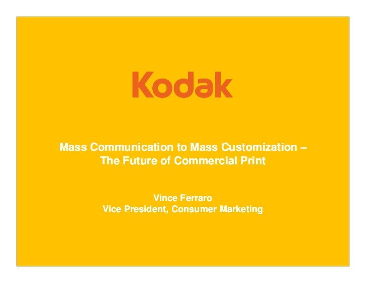 Mass Communication to Mass Customization