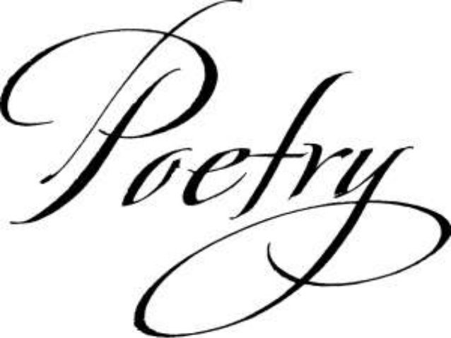 personal method of  writing poetry