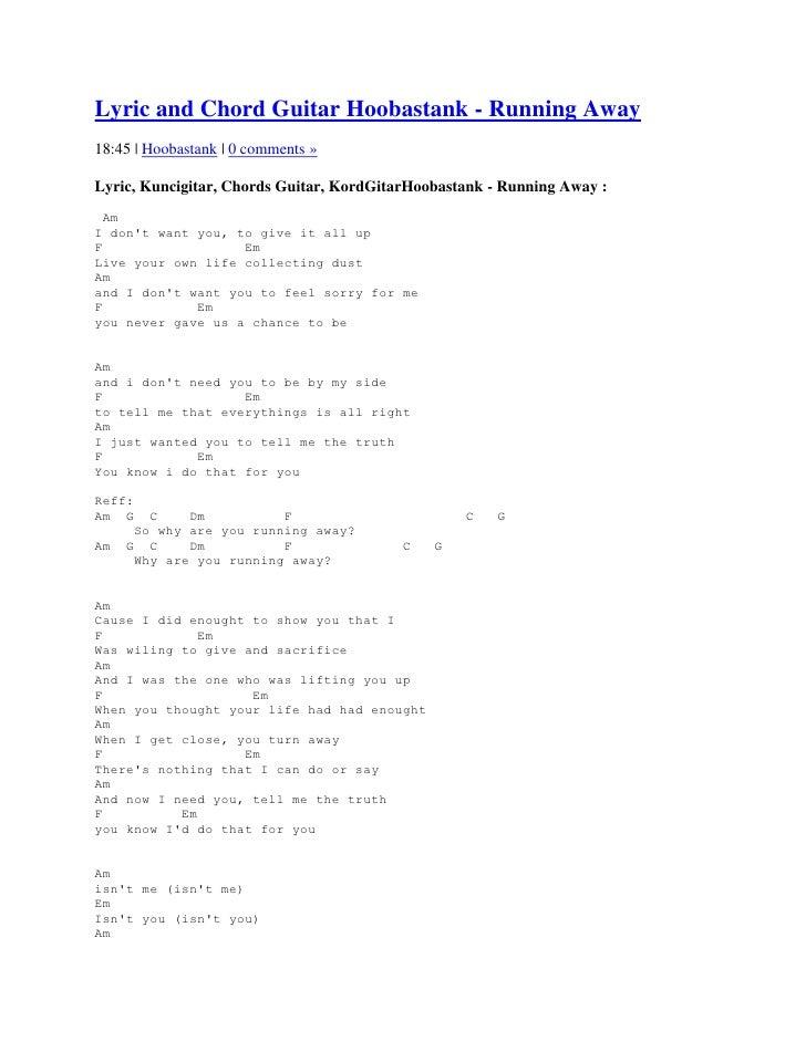 Lyric and chord guitar hoobastank