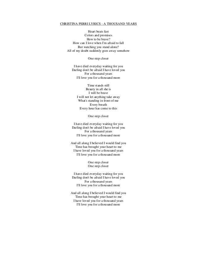 Lyrics containing the term: heart beat