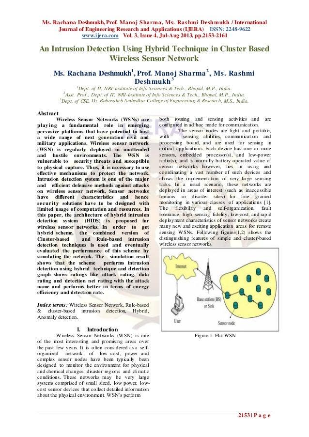 Ms. Rachana Deshmukh, Prof. Manoj Sharma, Ms. Rashmi Deshmukh / International Journal of Engineering Research and Applicat...