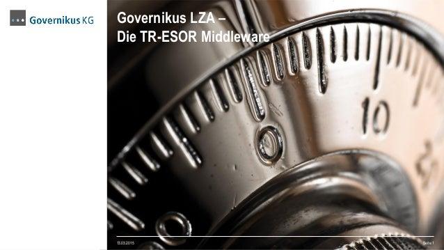 Governikus LZA – Die TR-ESOR Middleware 13.03.2015 Seite 1