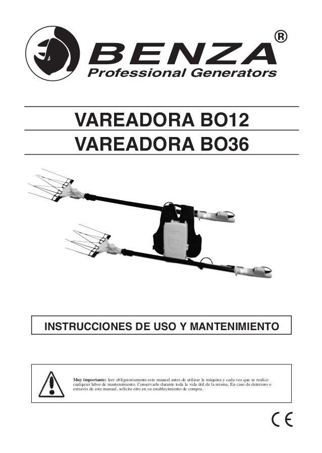 Manual de Instrucciones Vareadora bo12 bo36