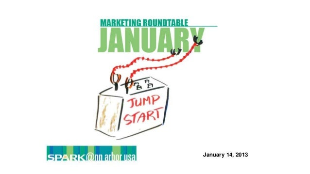Marketing Roundtable - January 14, 2014 - January Jump Start: Top Tips for 2014