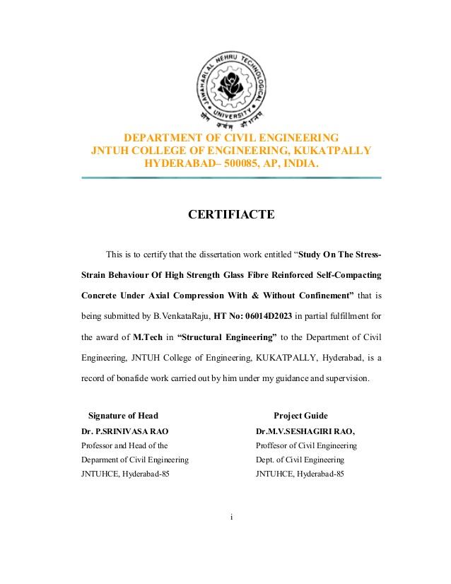 Transportation Engineering Detailed Program Requirements | Civil