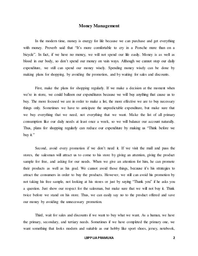 Excellent Ideas For Creating Essay on money