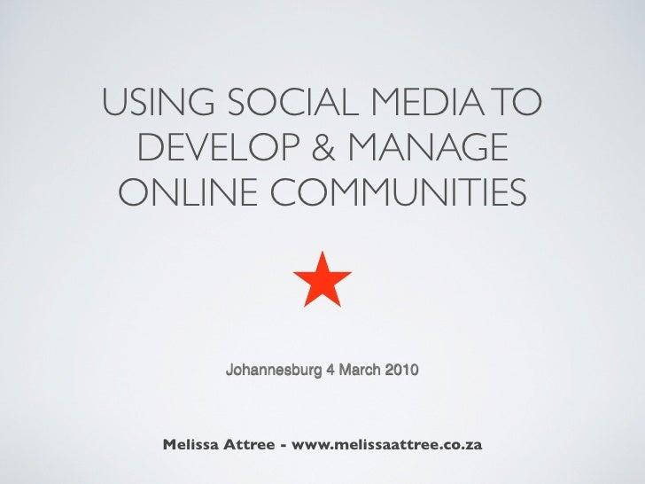 Social Media & Communities