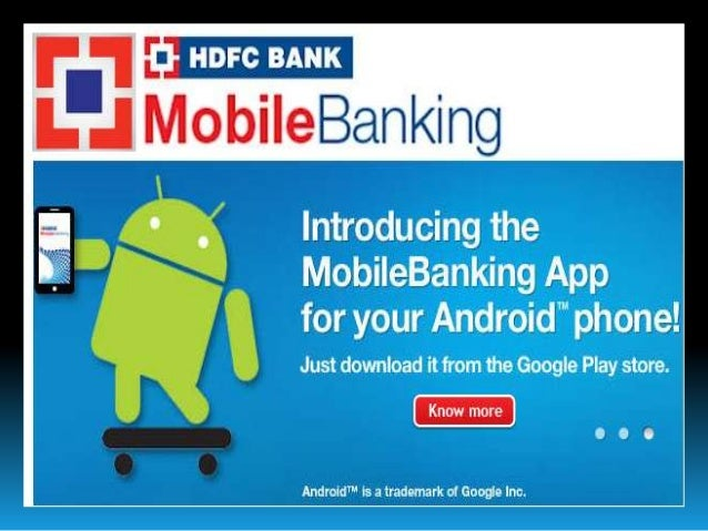 M banking in hdfc bank ppt