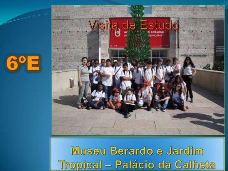 6ºE<br />Visita de Estudo <br />Museu Berardo e Jardim Tropical – Palácio da Calheta<br />