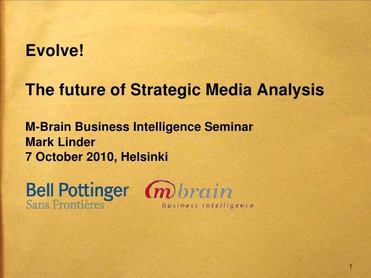 M-Brain business intelligence seminar Oct 7 2010 final
