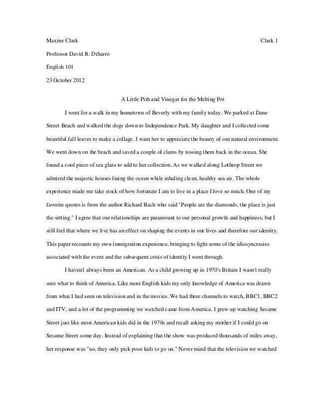 M. clark college writing seminar paper #1   first draft visual narrative essay