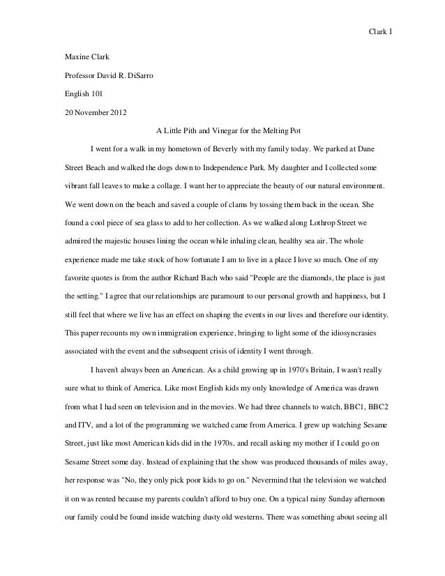 Narrative essay story