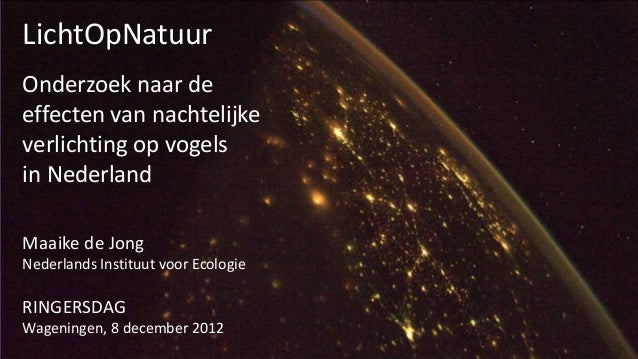 LichtOpNatuurOnderzoek naar deeffecten van nachtelijkeverlichting op vogelsin NederlandMaaike de JongNederlands Instituut ...