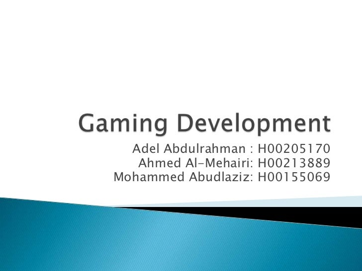 Adel Abdulrahman : H00205170   Ahmed Al-Mehairi: H00213889Mohammed Abudlaziz: H00155069