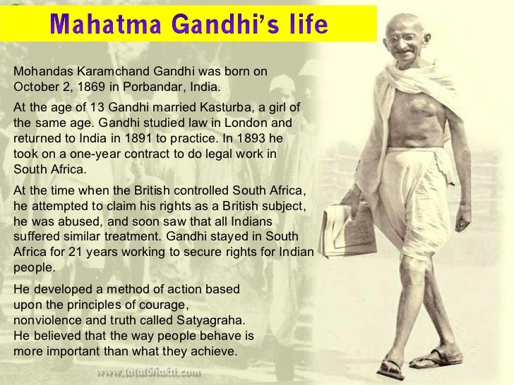 a look at the life of mohandas karamchand gandhi and his advocation of peace Anarchism and violence have he participates in taking animal life merely for the sake of his gandhi and anarchism mohandas karamchand gandhi the local.