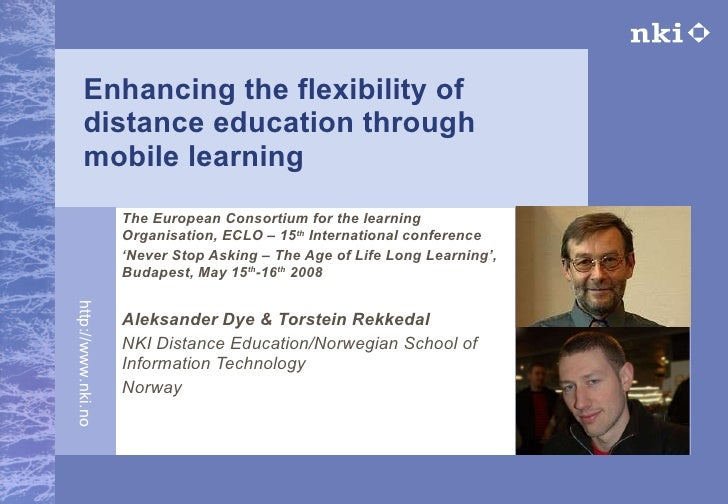 Mobile learning at NKI 2008