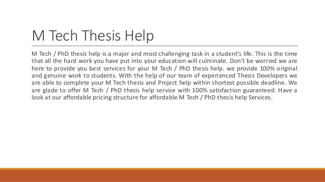The help thesis