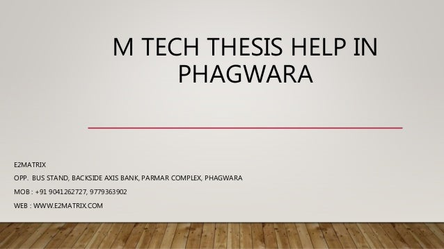 Help thesis