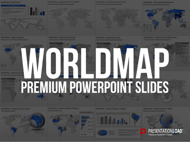 Worldmap PPT Slide Template