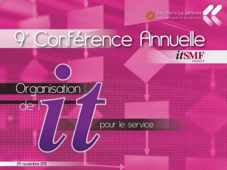 ITIL V3 vs ITIL 2011                   Evolutions et                   DifférencesPrésentateur   Vincent DOUHAIRIE - AMETT...