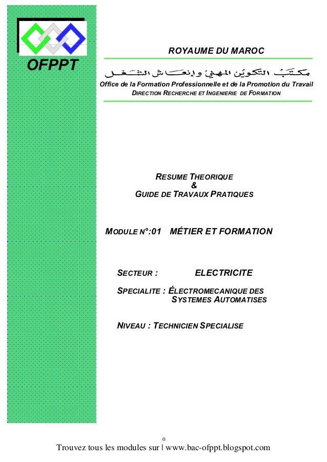 module electromecanique ofppt pdf free