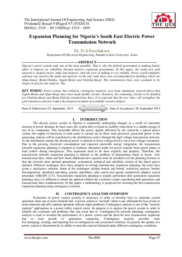 The International Journal Of Engineering And Science (IJES) ||Volume||2 ||Issue|| 9 ||Pages|| 97-107||2013|| ISSN(e): 2319...