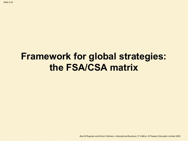 fsa csa matrix Therefore, it is the interpretation of the fsa and csa axes which is  emerging  economy multinationals tend to cluster in cell 1 of each matrix.