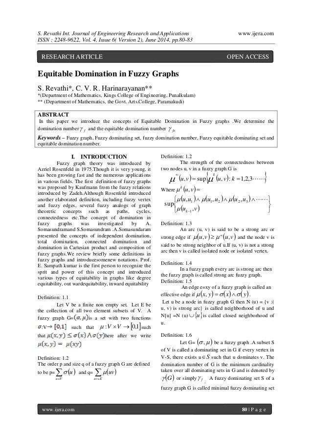 S. Revathi Int. Journal of Engineering Research and Applications www.ijera.com  ISSN : 2248-9622, Vol. 4, Issue 6( Version...