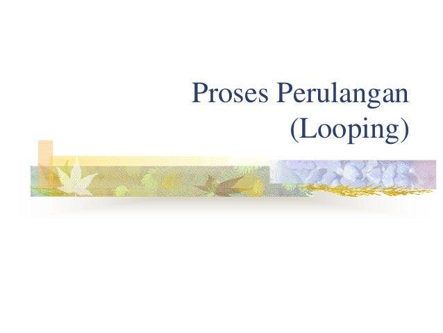 Proses Perulangan (Looping)