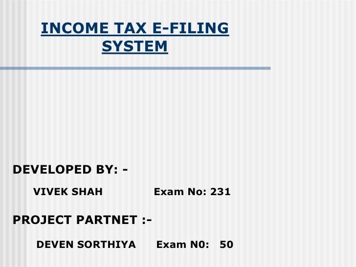 Incometax E-Filinf System
