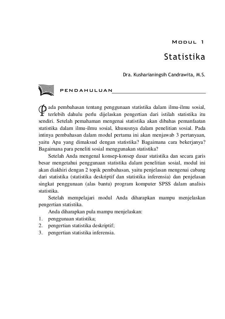 Modul 1                                                            Statistika                                        Dra. ...