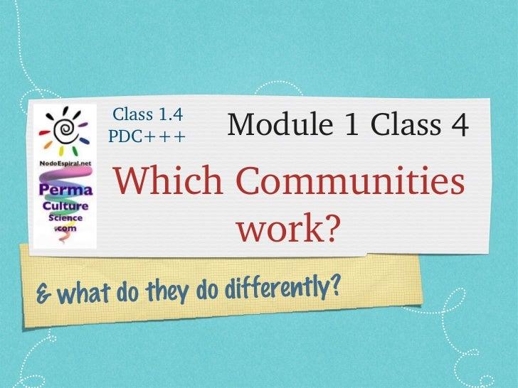 PDC+++ Module 1 Class 4