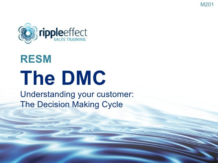 RESM The DMC Understanding your customer:  The Decision Making Cycle M201