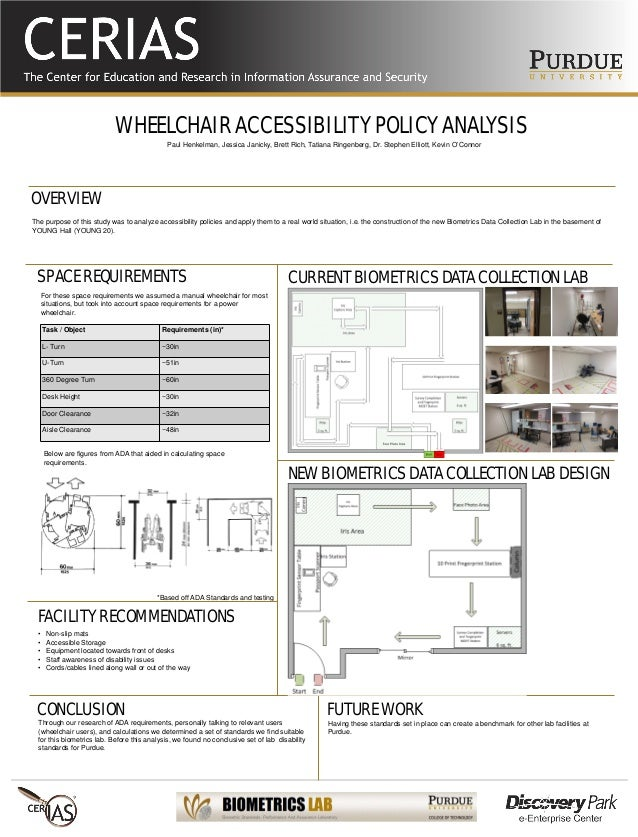 WHEELCHAIR ACCESSIBILITY POLICY ANALYSIS The purpose of this study was to analyze accessibility policies and apply them to...