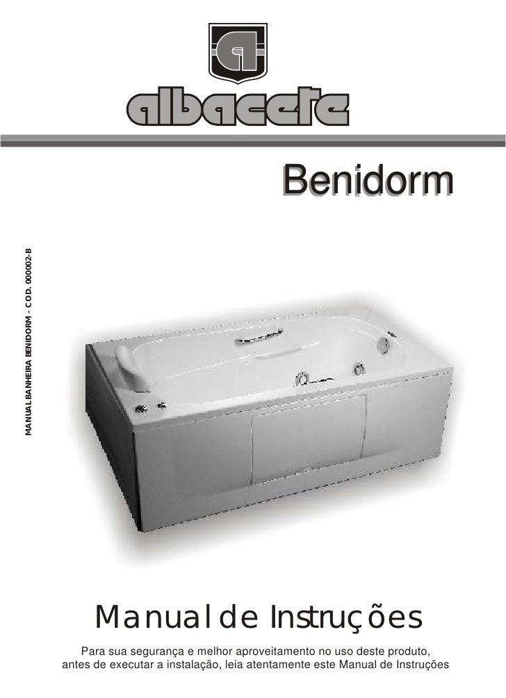 Manual Banheira Benidorm
