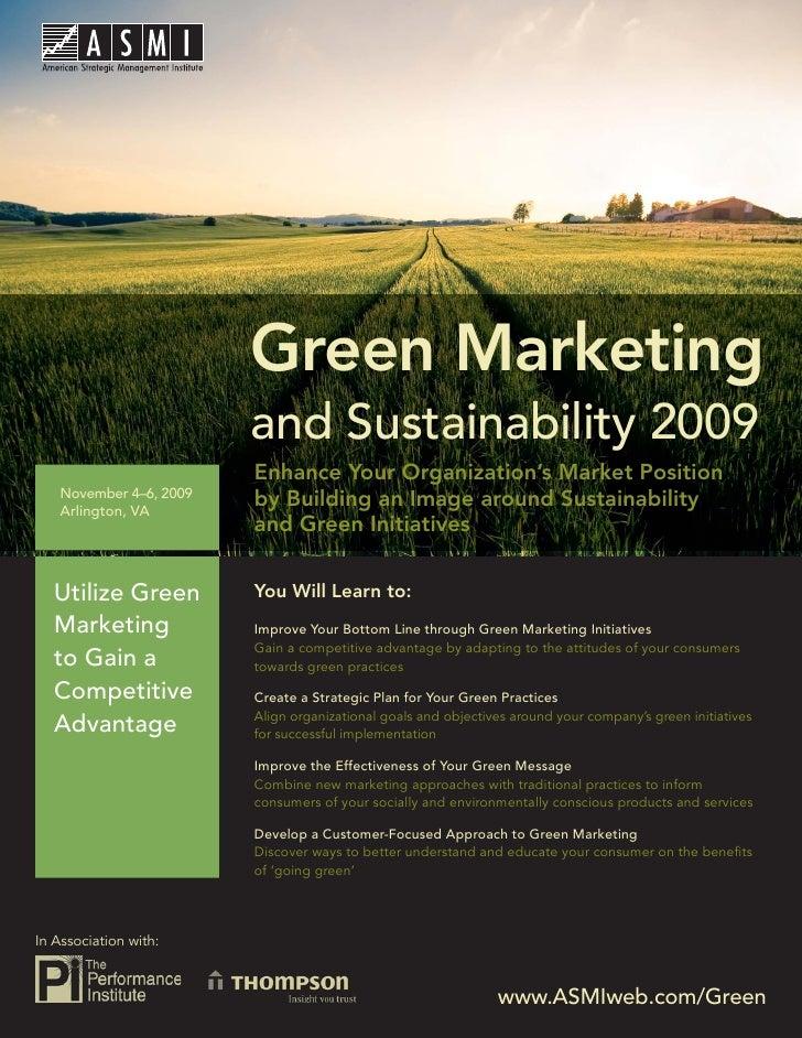 Green Marketing and Sustainability 2009                               Green Marketing                           and Sustai...
