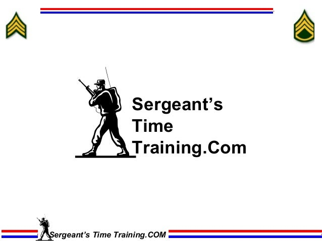 Sergeant's                   Time                   Training.ComSergeant's Time Training.COM