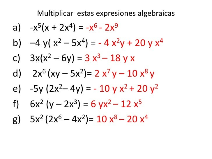 M1 expresiones algebraicas
