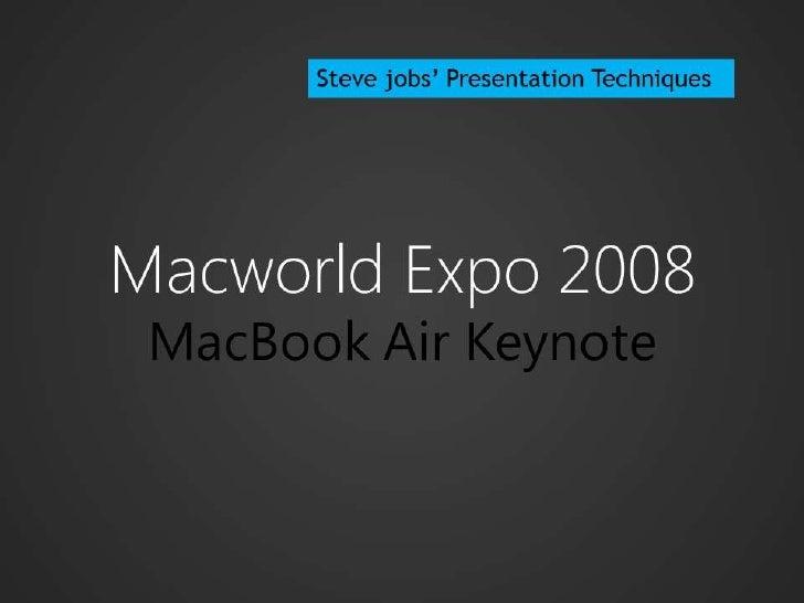 Steve jobs' Presentation Techniques