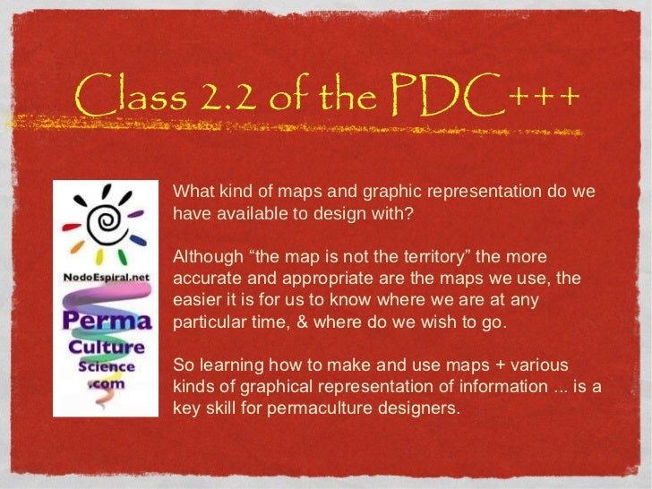 """Class 2.2 of the PDC+++ What kind of maps and graphic representation do we have available to design with? Although """"the ma..."""
