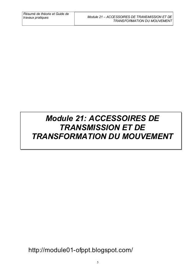 m21 accessoires de transmission et de transformation du mouvement ge