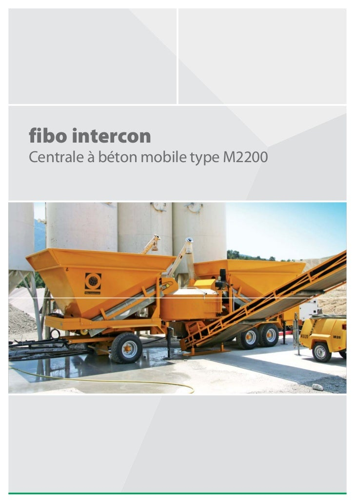 fibo intercon Centrale à béton mobile type M2200