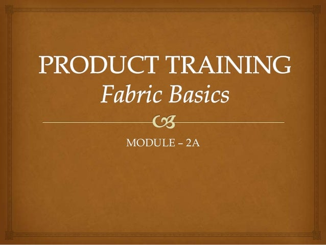 Fabric Training for retail staff