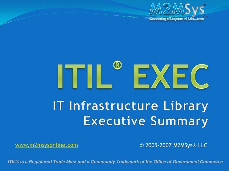 M2MSys ITIL Executive Summary