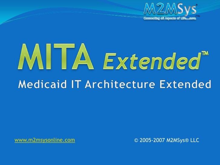 www.m2msysonline.com   © 2005-2007 M2MSys® LLC