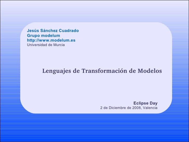 Lenguajes de Transformación