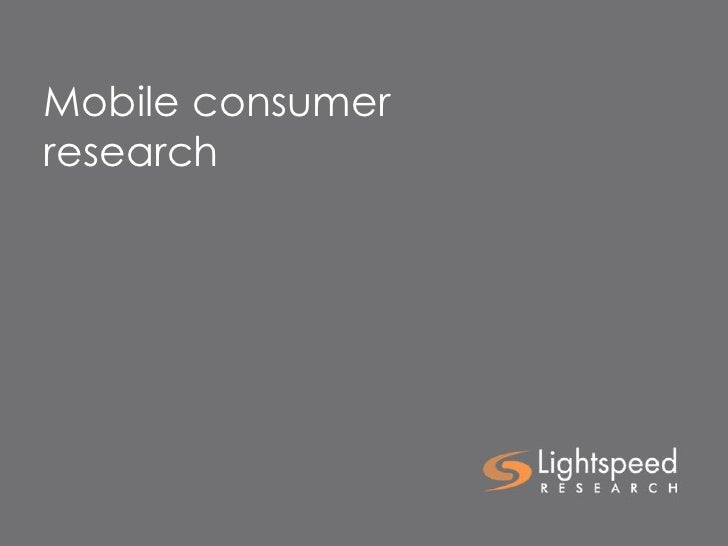 Mobile consumer research